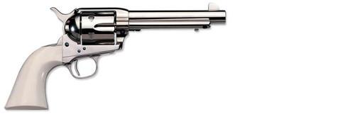 Uberti 1873 Cattleman Nickel-Ivory (Cody) 45 Colt 5 1/2