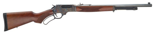 """Henry Repeating Arms, Lever Action, 45-70, 22"""" Octagon Barrel, 1:20 Twist, Color Case Hardened Finish, American Walnut Stock, 4Rd, Fully Adjustable Semi-Buckhorn Rear Sight with Diamond Insert, Brass Bead Front Sight"""