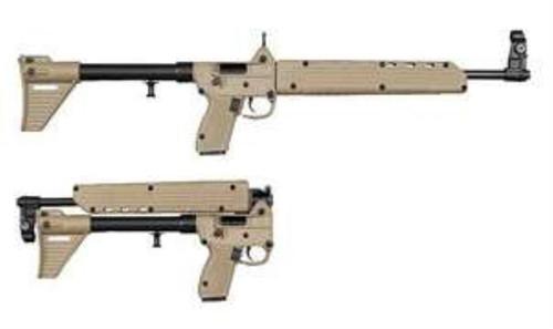 Kel-Tec Sub-2000, 9mm, Glock 19 Grip, Blued Barrel, Tan Finish, 15rd