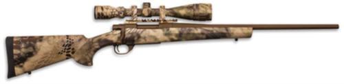 "HOWA Hogue Kryptek AB Cerakote Package .308 Winchester 20"" Lightweight Barrel Austrian Brown Cerakote Finish Synthetic Stock Kryptek Highlander Camouflage Finish With Gameking 4-16x44mm Riflescope"
