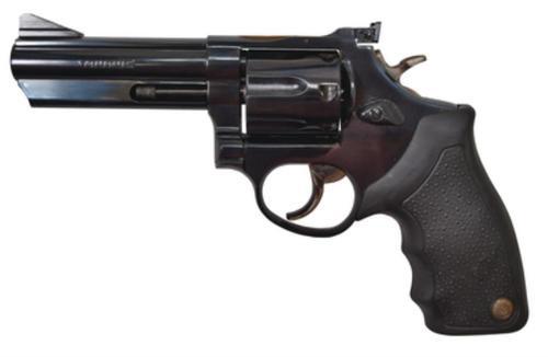 """Taurus 66 Standard 357 Mag, 4"""" Barrel, Adj Sight, Black Grip, Blued, 7rd"""