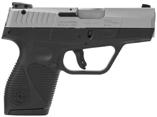 "Taurus 709 Slim Single/Double 9mm 3"" Barrel, Black Polymer Grip Sta, 7rd"
