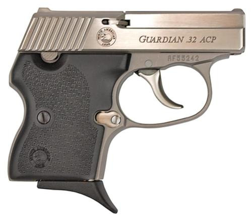 "NAA 32 Guardian 32 ACP 2.19"" Barrel, Black Rubber Grip SS, 6rd"