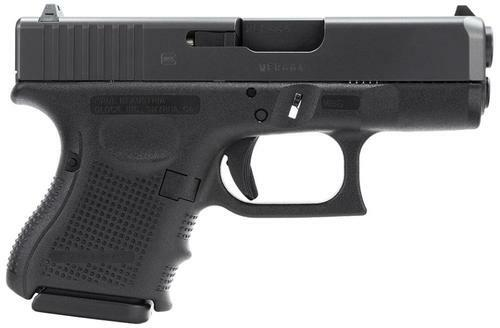 "Glock G26 Gen4 9mm 3.5"" Barrel Standard Fixed Sights, 3 10 Round Mags"