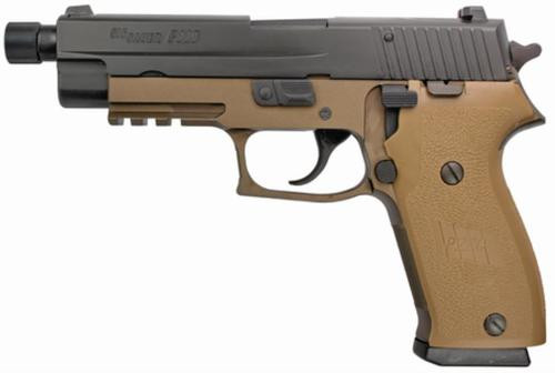 Sig P220 Combat 45 Threaded Barrel 8/10 Rd Mags Tan