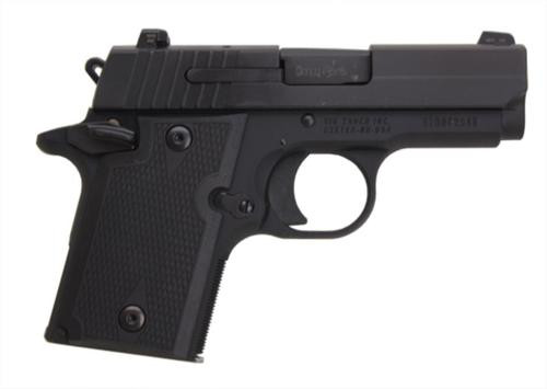 Sig P938 9MM 3IN Nitron Black SAO Siglite Polymer Grip (1) 6RD Steel MAG Ambi Safety