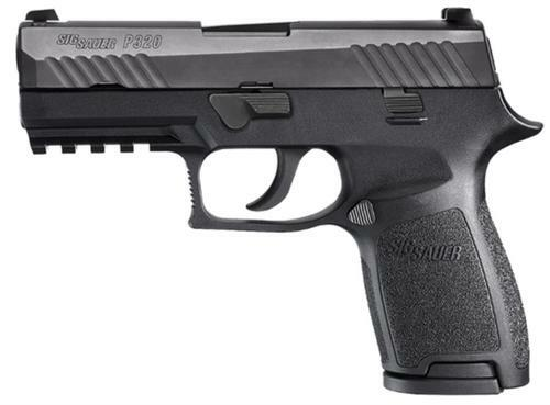 "Sig P320 9mm 3.9"" Barrel Nitron Siglite Nite Sites Modular Grip, Rail 2-15Rd Mags"