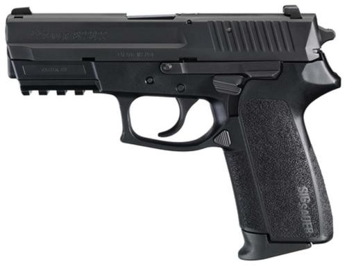 Sig SP2022 9MM 3.9In Nitron Black Da/Sa Contrast Sights Polymer Grip (2) 10Rd Steel MAG Rail CA Compliant