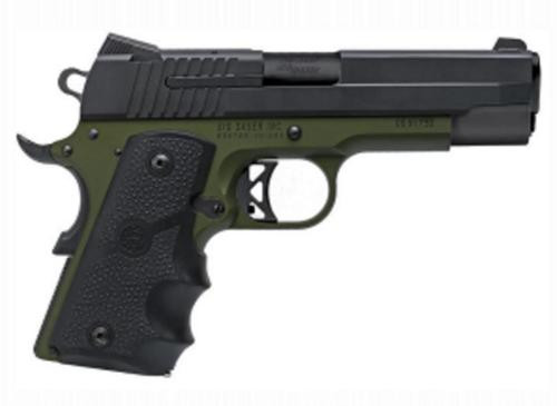 "Sig 1911 Army Compact C3 45 ACP, 4.2"" Barrel, Army Green/Black TALO Exclusive, 7rd MAg"