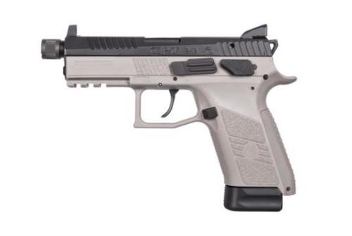 CZ P-07 9mm Urban Grey, Black Slide, Suppressor Ready, NS, 15rd