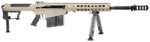"Barrett M107A1 .50 BMG, 20"" Chrome Lined Fluted Barrel, Black Muzzle Brake, Tan Cerakoted Receiver, 10rd"