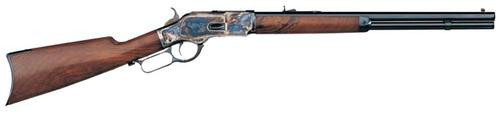 """Taylor's 1873 Lever .45 LC, 24.25"""" Octagon Barrel, Walnut Straight Stock, Case Hardened Receiver, Blued"""
