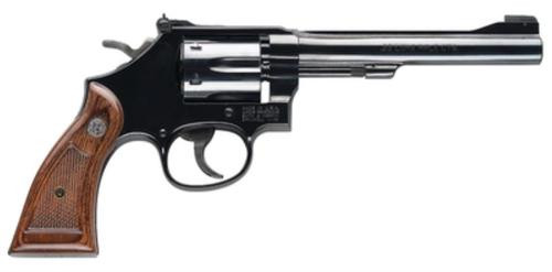 "Smith & Wesson 17 Masterpiece Classic 22LR 6"" Barrel Square Butt Grip 6 Rounds"
