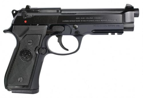 "Beretta 92A1, DA/SA, Full Size, 9mm, 4.9"" Barrel, Alloy Frame, Blue Finish, Plastic Grips, 3 Dot Sights, 3 Magazines, 10 Rounds"