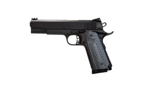 "Rock Island 1911 22TCM/9mm, 5"" Barrel, Steel, Parkerized, G10 Grips, Convertible kit, 10rd"