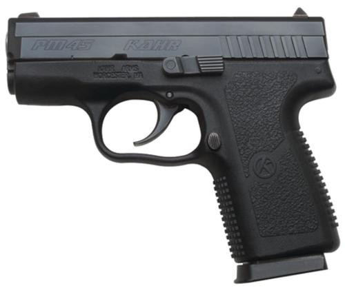 """Kahr Arms PM45 45 ACP Double 3.20"""",  Black Polymer Grip/Frame Black Stainless Steel Slide,  5 rd"""