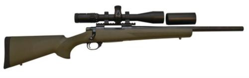 """Howa Hogue/TargetMaster Combo .223 Remington 20"""" Heavy Barrel Blue Finish Green Hogue Stock 5rds With 4-16x44mm Target Master Riflescope Illuminated Mil-Dot Reticle and Rings"""