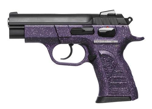"EAA Witness Pavona Cmpt Poly DA/SA 9mm 3.6"" Barrel, Ergo Grip Purple/Silver, 13rd"
