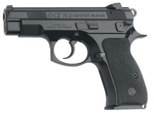 CZ 75 D PCR Compact 9mm, Alloy Frame, Decocker, Black, 14rd