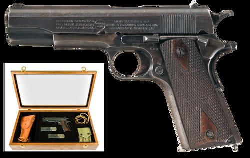 "Remington 100th Anniversary of WWI UMC Commemorative 1911 45 ACP 5"" Barrel, Wooden Glass-Top Presentation Case"