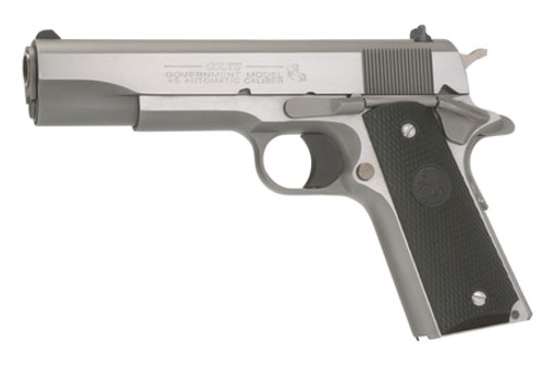 "Colt 1991 Series Government 45 ACP 5"" Barrel, Black Poly Grip Stainless, 7rd"