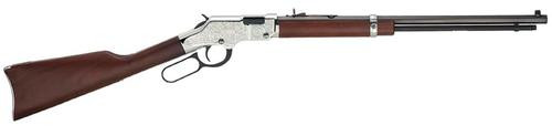 "Henry Silver Eagle Lever Rifle, 17 HMR, 20"",, , Walnut Stock, Nickel Receiver,  12 rd"