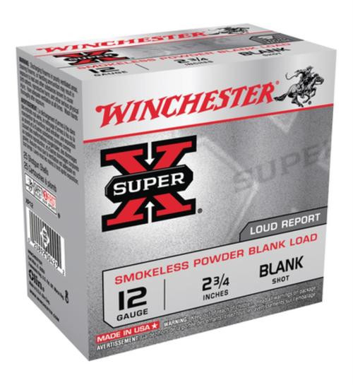 Winchester Super-X Field Trial 12 Ga Smokeless Blanks, POP LD, 25rd/Box - Not Ammo, These Are Blanks