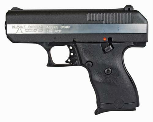 "Hi-Point CF-380, .380 ACP, 3.5"" Barrel, 8rd, Black, Silver Strip"