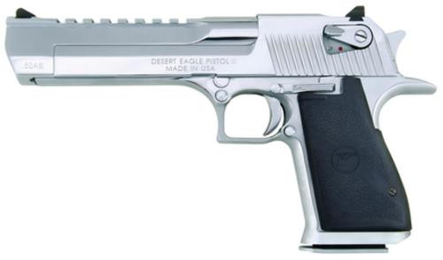 "Magnum Research Desert Eagle Mark XIX 50AE 6"" Barrel, Black Synthetic Matte Chrome, 7rd"