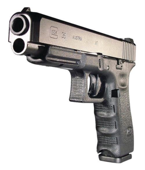 """Glock, 35, Safe Action, Longslide Size Pistol, 40S&W, 5.32"""" Barrel, Polymer Frame, Matte Finish, Adjustable Sights, 15Rd, Prac/Tac, 2 Magazines, Glock OEM Rail, Right Hand"""