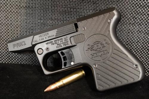 Heizer PAK1 Pocket AK Pistol 7.62x39mm Ported Barrel Steel Frame Stainless Steel Finish