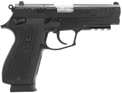 """Lionheart LH9 MKII DA+ 9mm 4.1"""" 15+1 FS Blk Poly Grip Black Cerakote"""