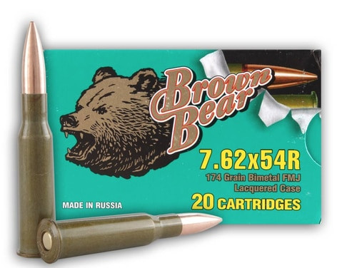 Brown Bear 7.62x54R, 174 Gr, FMJ, 20rd Box