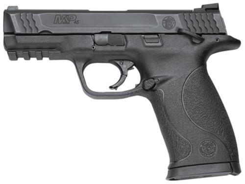"""Smith & Wesson M&P Mid-Size 45 ACP 4"""" Barrel, Black Melonite Finish, White Dot Sights, Manual Safety, 10 Rnd Mag"""
