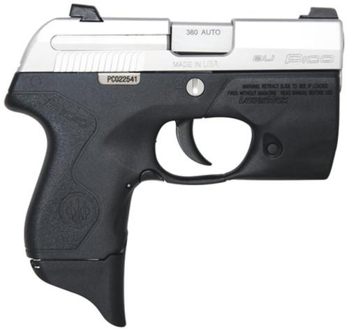 "Beretta Pico Inox 380 2.7"" Barrel, Lasermax Light Grip Frame Double 6 Rd Mag"