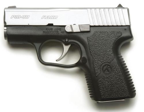 "Kahr Arms PM40 Standard DAO 40S&W, 3.1"" Barrel, Poly Grip Black Poly Frame/SS Slide, 6rd"