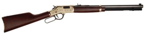 "Henry American Oilman Tribute Edition .44 Mag 20"" Octagonal Barrel Engraved Brass Receiver Straight-Grip American Walnut Stock 10rd"