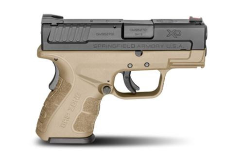 "Springfield XDG Mod.2 Sub-Compact 9mm 3"" Barrel Flat Dark Earth Finish, X-Tension"