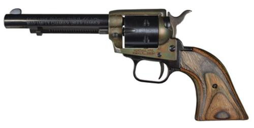 "Heritage Rough Rider 22LR/22 Mag, 4.75"" Barrel, Camo Lam Grip, Case Hardened, 6rd"