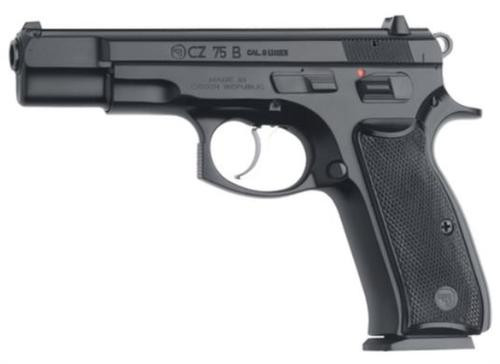 CZ 75 B SA/DA 9mm 4.7,  Black Synthetic Grip Black,  10 rd