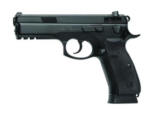 "CZ SP-01 9mm 4.7"" Barrel, Decocker NS Rubber Grip Black 18rd Mag"