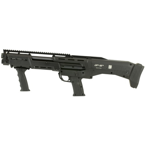 "Standard Manufacturing DP-12, Pump-Action 12 Ga, Double Barrel, 18.8"" Barrel, 16rd, Black"
