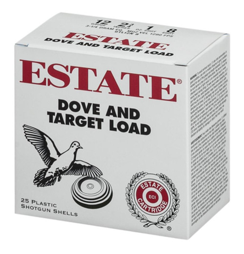 "Estate Cartridge Estate Dove And Target 12 Ga 2.75"" 1290 FPS 1oz 8 Shot, 250rd/Case (10 Boxes/Case)"
