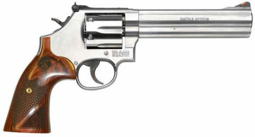 "Smith & Wesson 629 Deluxe 44 Magnum / .44 Special, 6.5"", Wood Grips, Stainless"