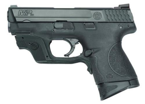 """Smith & Wesson MP9C Compact 9mm 3.5"""" Barrel Crimson Trace Green Laserguard 12rd Mag"""
