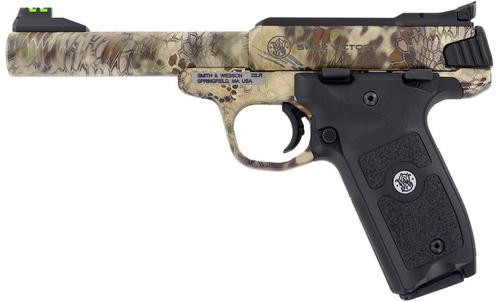 "Smith & Wesson SW22 Victory Pistol, 22LR, 5.5"", Kryptek Highlander Camo, 10rd Mag"