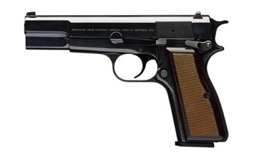 Browning Hi-Power Standard 9mm, Walnut Grips, 13 Rd Mag