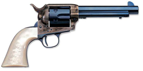 "Uberti 1873 Cattleman Charcoal, .45 Colt, 7.5"", Pearl Grips, Charcoal Blue Finish"