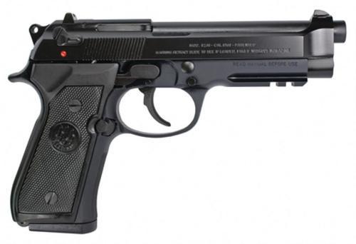 "Beretta 92A1, Semi-Automatic Pistol, DA/SA, Full Size, 9mm, 4.9"" Barrel, Alloy Frame, Blue Finish, Plastic Grips, 3-Dot Sights, 3 Magazines, 17 Rounds"