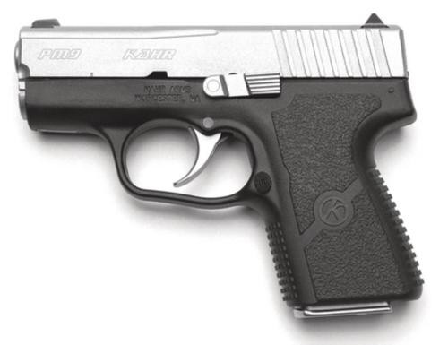 """Kahr Arms PM9 DAO 9mm 3"""", /7+1 Black Poly Grip/Stainless,  6 rd"""